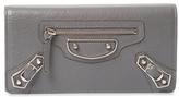 Balenciaga Metallic Edge Money Leather Continental Wallet