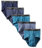 Fruit of the Loom Men's Stripe Solid Brief(Pack of 5)