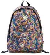 Nylon Paisley Print Backpack