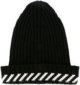 Off-White diagonal stripe beanie