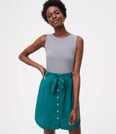 LOFT Tie Waist Button Skirt