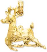 Macy's 14k Gold Charm, Polished Reindeer Charm