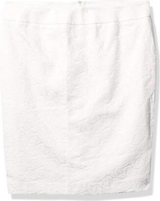 Kasper Women's Floral Jacquard Slim Skirt