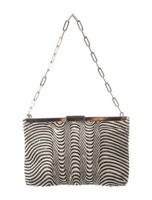 Gucci Beaded Frame Clutch silver