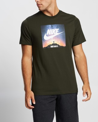 Nike Men's Green Printed T-Shirts - JDI T-Shirt - Size S at The Iconic