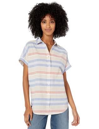 Goodthreads Amazon Brand Women's Washed Cotton Short-Sleeve Shirt