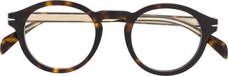 David Beckham Eyewear tortoiseshell effect rounded glasses