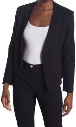 PREMISE STUDIO Solid Open Front Lined Blazer (Petite)