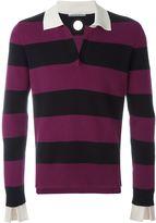 Andrea Pompilio - striped polo shirt - men - Cotton - 46