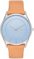 Skagen Women's Holst Genuine Leather Strap Watch