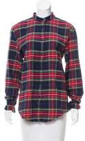 Just Cavalli Plaid Long Sleeve Top