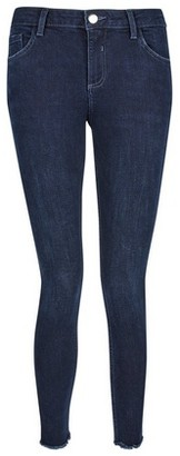 Dorothy Perkins Womens Petite Blue 'Darcy' Skinny Ankle Grazer Jeans, Blue