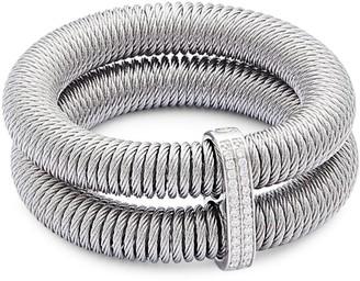 Alor Kai 18K Gold & Stainless Steel Diamond Tiered Coiled Bangle Bracelet