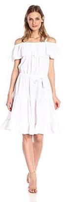 Design History Women's Twill Flounce Dress