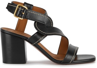 Chloé 75 Black Leather Sandals