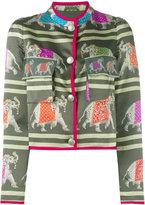Emporio Armani embroidered jacket - women - Silk/Cotton/Polyester/Viscose - 40