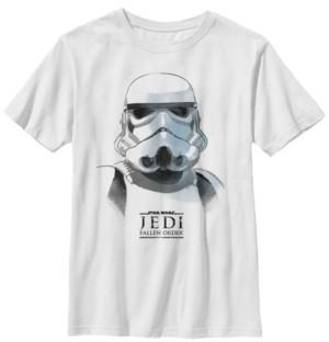 Star Wars Big Boys Jedi Fallen Order Stormtrooper Mask Short Sleeve T-Shirt