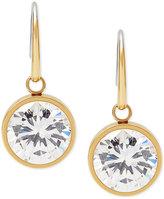 Michael Kors Bezel-Set Round Crystal Drop Earrings