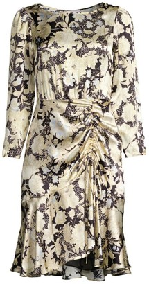 Rebecca Taylor Floral Silk Flounce Dress