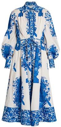 Valentino Floral Poplin Shirtdress