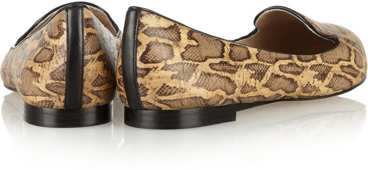 Jean-Michel Cazabat Jean Michel Cazabat Vanity snake-print leather loafers