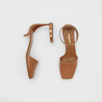 Burberry Triple Stud Leather Kitten-heel Sandals