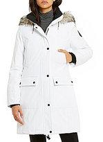 Calvin Klein Faux-Fur Trim Detachable Hood Parka