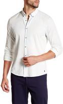 Scotch & Soda Long Sleeve Light Denim Textured Button Up Shirt