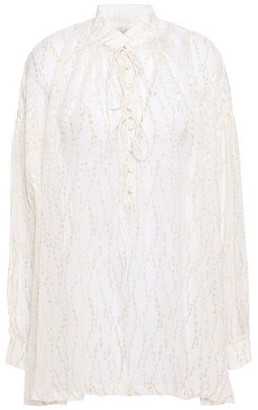 IRO Metallic Fil Coupe Chiffon Tunic