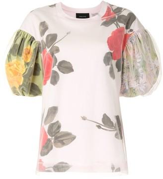 Simone Rocha rose print T-shirt