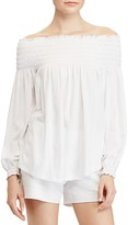 Lauren Ralph Lauren Smocked Off-the-Shoulder Top