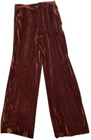 Vicolo Burgundy Velvet Trousers for Women