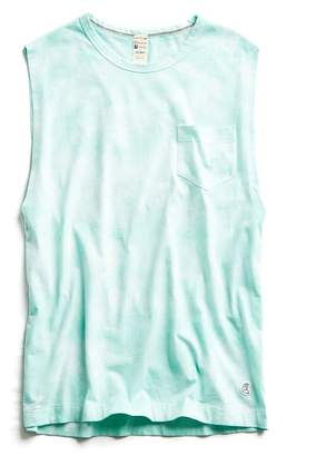 Todd Snyder + Champion Tie Dye Muscle Tank in Minty Green