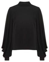HUGO Regular-fit blouse with cold-shoulder cuts