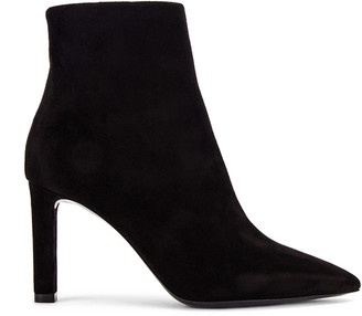 Saint Laurent Kate Zip Ankle Booties in Black | FWRD
