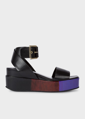 Paul Smith Women's Black 'Janis' Platform Sandals