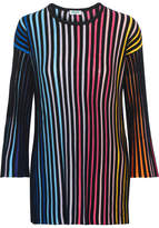 Kenzo Ribbed Cotton-blend Sweater - Blue