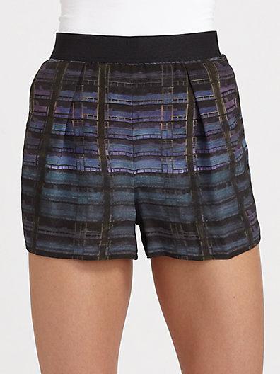 Theyskens' Theory Silk Iding Pung Shorts