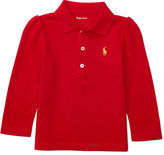 Ralph Lauren Puff-Sleeve Cotton Polo Shirt