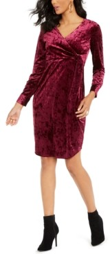 Thalia Sodi Side-Tie Velvet Surplice Dress, Created for Macy's