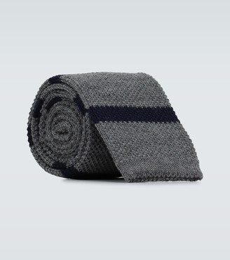 Brunello Cucinelli Striped wool knitted tie