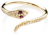 Ef Collection 14K Diamond Ruby Snake Ring
