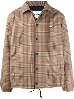 MSGM check print shirt jacket