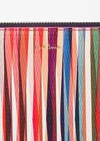 Paul Smith Women's Medium 'Crossover Stripe' Leather Zip-Around Purse