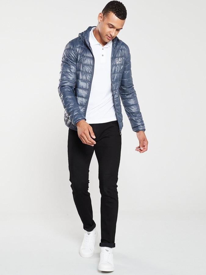 a54c3e0a Ea7 EA7 Core ID Hooded Padded Jacket - Cobalt Grey