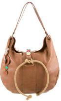 Marni Bead-Embellished Leather Hobo