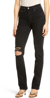 Reformation Liza High Waist Straight Leg Jeans