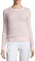 Michael Kors Long-Sleeve Jewel-Neck Sweater, Blush