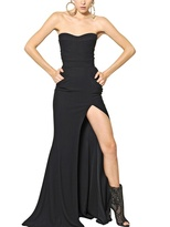 Balmain Viscose Cady Long Dress