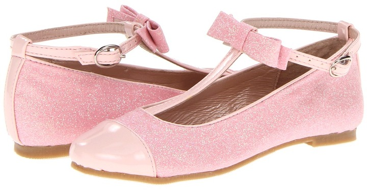 Amiana 15/A5178(Toddler/Youth/Adult) (White Patent/Glitter) - Footwear